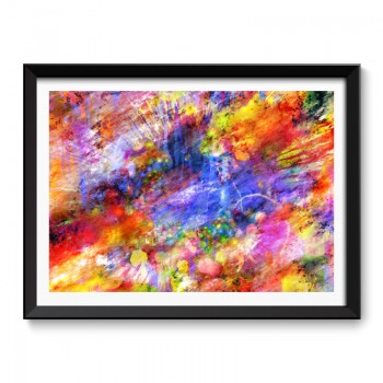Colour Explosion Abstract Art Framed Print