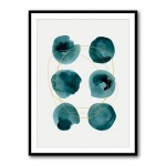 Ink Circles 3 Abstract Framed Print