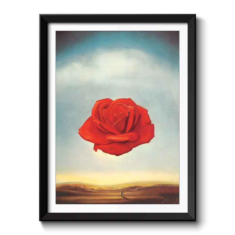Red Rose Abstract Framed Art Print
