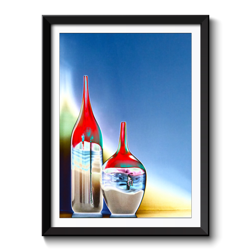 Vases Abstract Framed Art Print