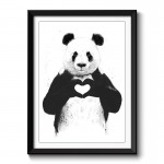 All You Need is Love Panda Framed Print