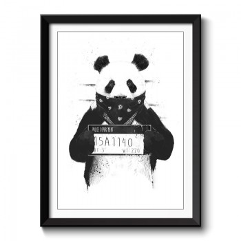 Bad Panda Framed Print