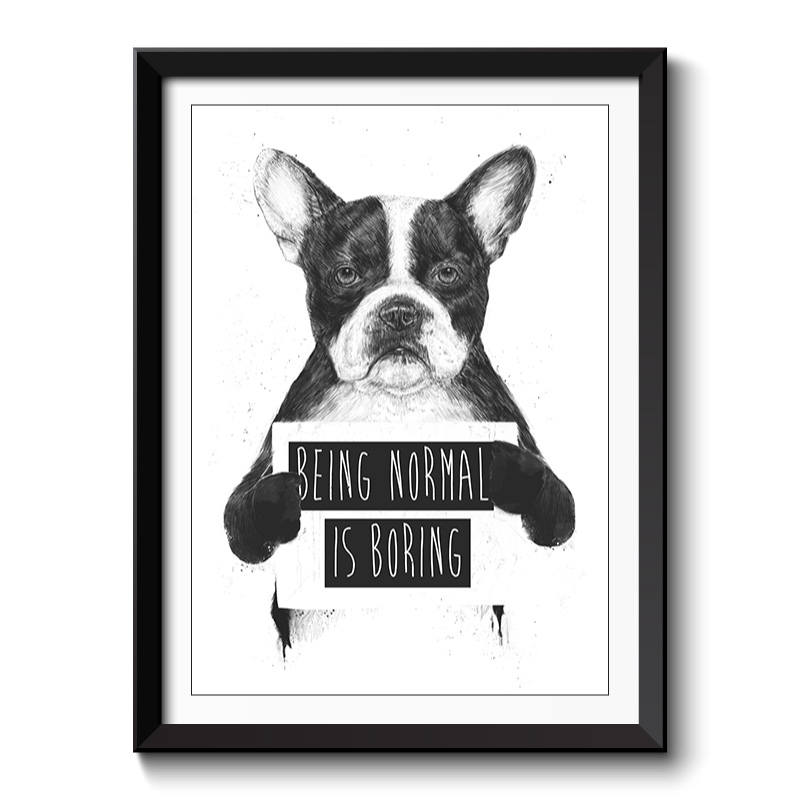 Being Normal is Boring Framed Print