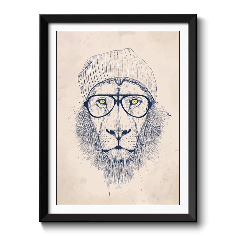 Cool Lion Framed Print