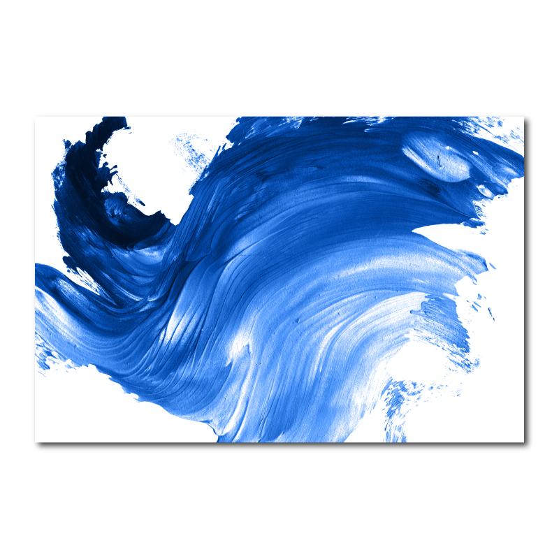 Abstract Blue Canvas Wall Art Print