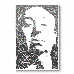 Alfred Hitchcock Abstract Wall Art Canvas Print