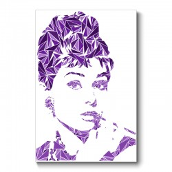 Audrey Hepburn Abstract Wall Art Canvas Print