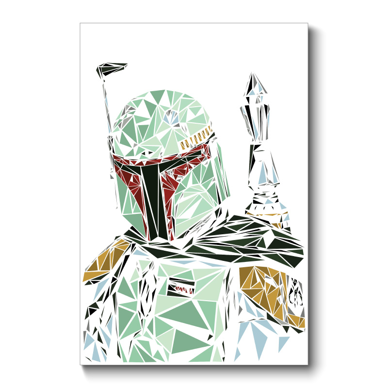 Boba Fett Abstract Wall Art Canvas Print