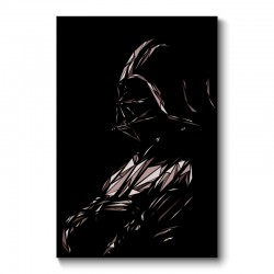 Darth Vader Abstract Wall Art Canvas Print