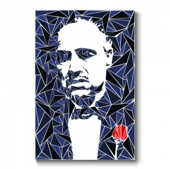 Godfather Abstract Wall Art Canvas Print