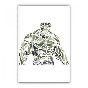 Hulk Abstract Wall Art Canvas Print