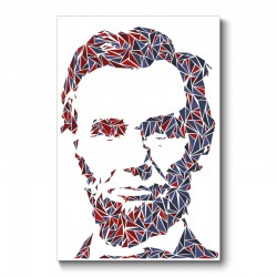 Lincoln Abstract Wall Art Canvas Print
