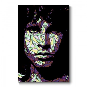 Jim Morrison Abstract Wall Art Canvas Print