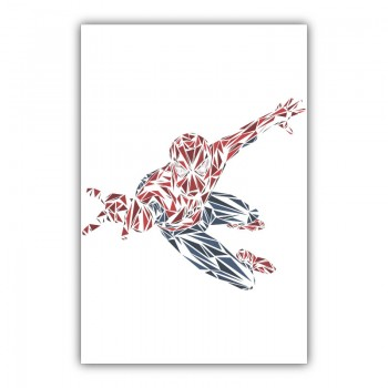 Spiderman Abstract Wall Art Canvas Print