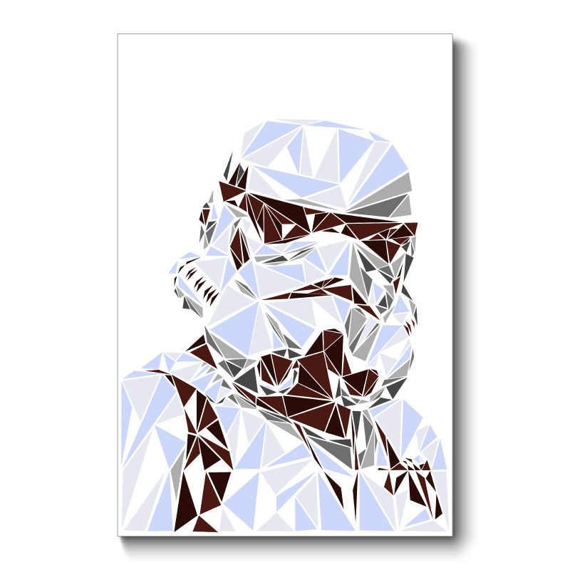 Stormtrooper Abstract Wall Art Canvas Print