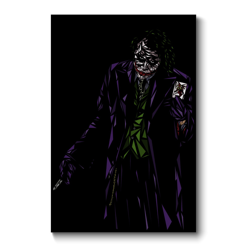 The Joker Abstract Wall Art Canvas Print