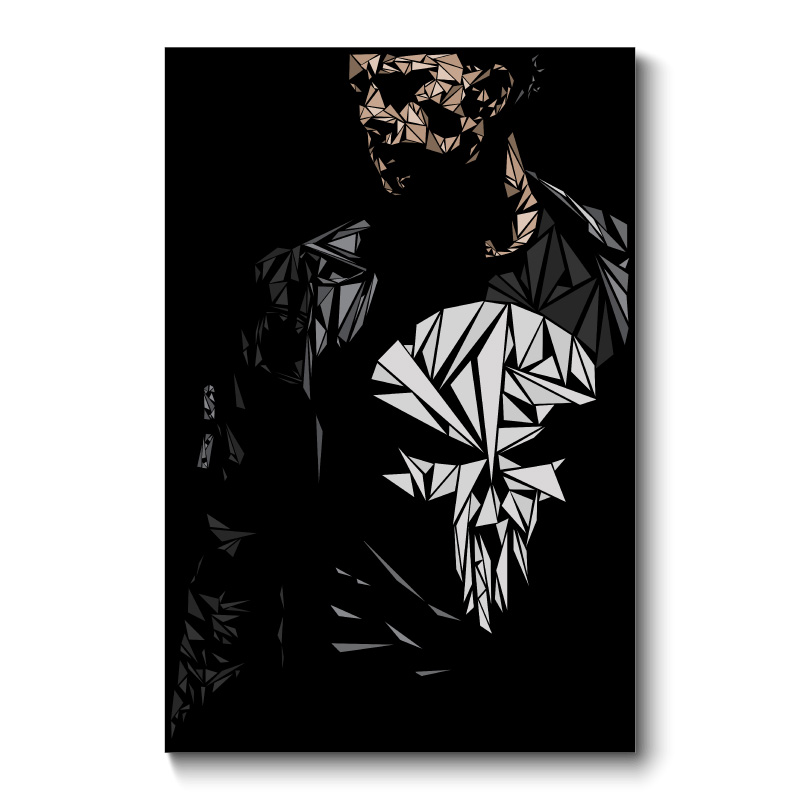 The Punisher Abstract Wall Art Canvas Print