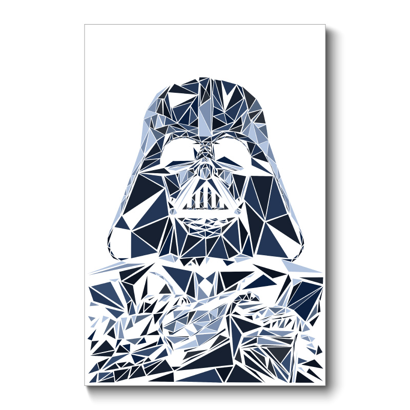 Vader Abstract Wall Art Canvas Print