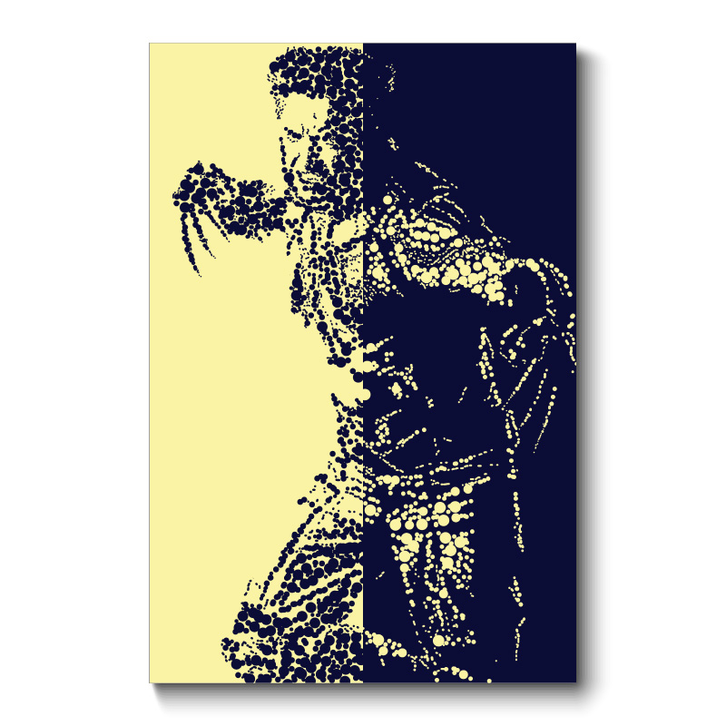 Wolverine Abstract Wall Art Canvas Print
