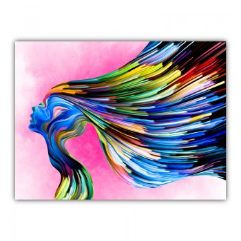 Vibrant Hair Canvas Wall Art Print