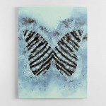 Blue Butterfly Abstract Wall Art Canvas Print