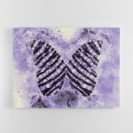 Purple Butterfly Abstract Wall Art Canvas Print