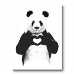 All You Need is Love Panda Canvas Print