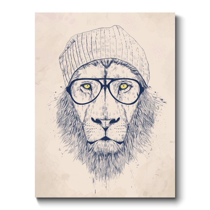 Cool Lion Canvas Print