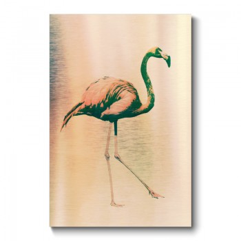Flamingo Aged Grunge Canvas Print