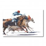 Race to the Finish Canvas Art Print