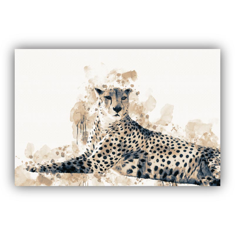 Focused Leopard Canvas Art Print