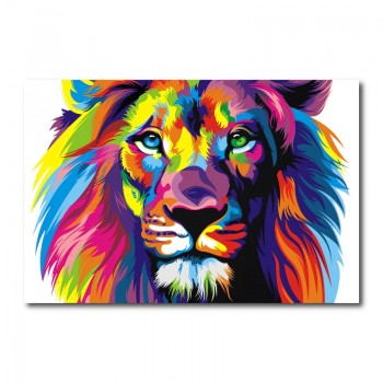Lion Abstract Wall Art Canvas Print