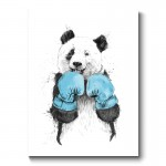The Winner Panda Canvas Print