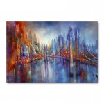 On Road Abstract Canvas Wall Art Print