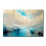 Arrive Abstract Canvas Wall Art Print