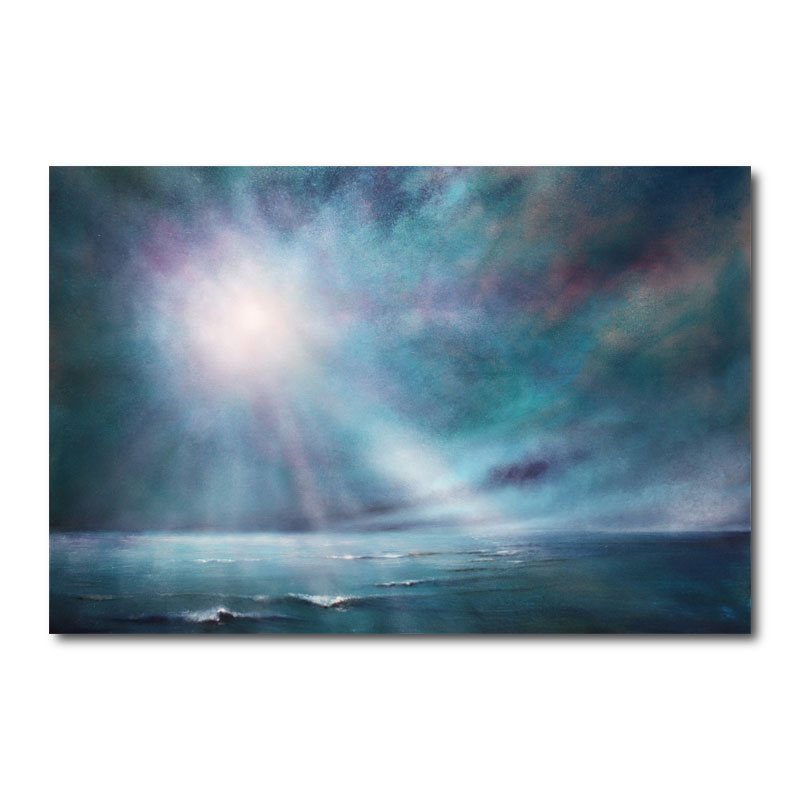 Strength and Still Abstract Canvas Wall Art Print