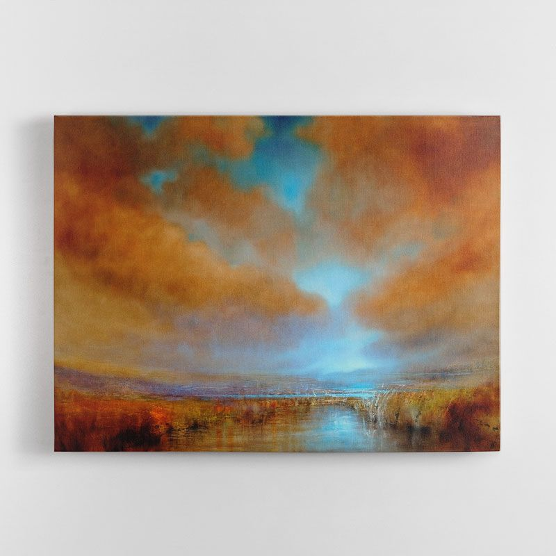 Into the Light Abstract Canvas Wall Art Print