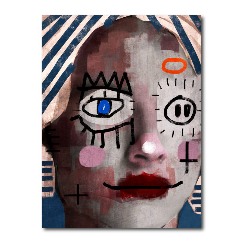 A Doll by Daniel Malta Canvas Wall Art Print