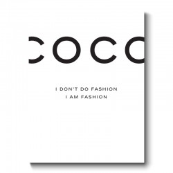 COCO Chanel Canvas Print