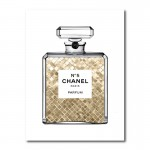 Champagne Gold in Chanel Canvas Wall Art Print
