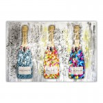 Champagne Sweets Paint Splash Canvas Art Print