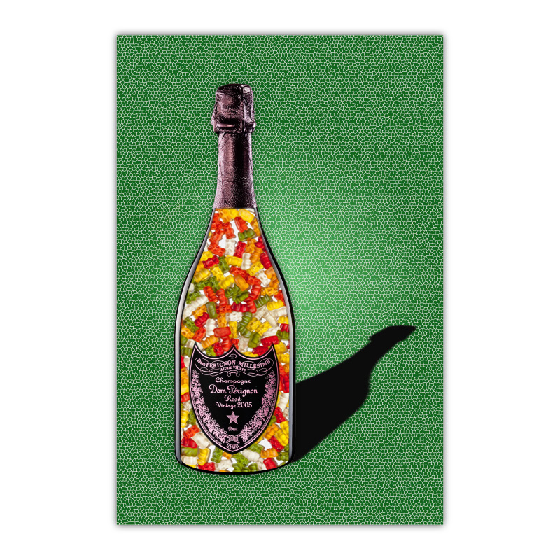 Gummy Bears Green Champagne Wall Art Canvas Print