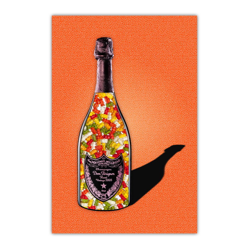 Gummy Bears Orange Champagne Wall Art Canvas Print