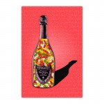 Gummy Bears Red Champagne Wall Art Canvas Print