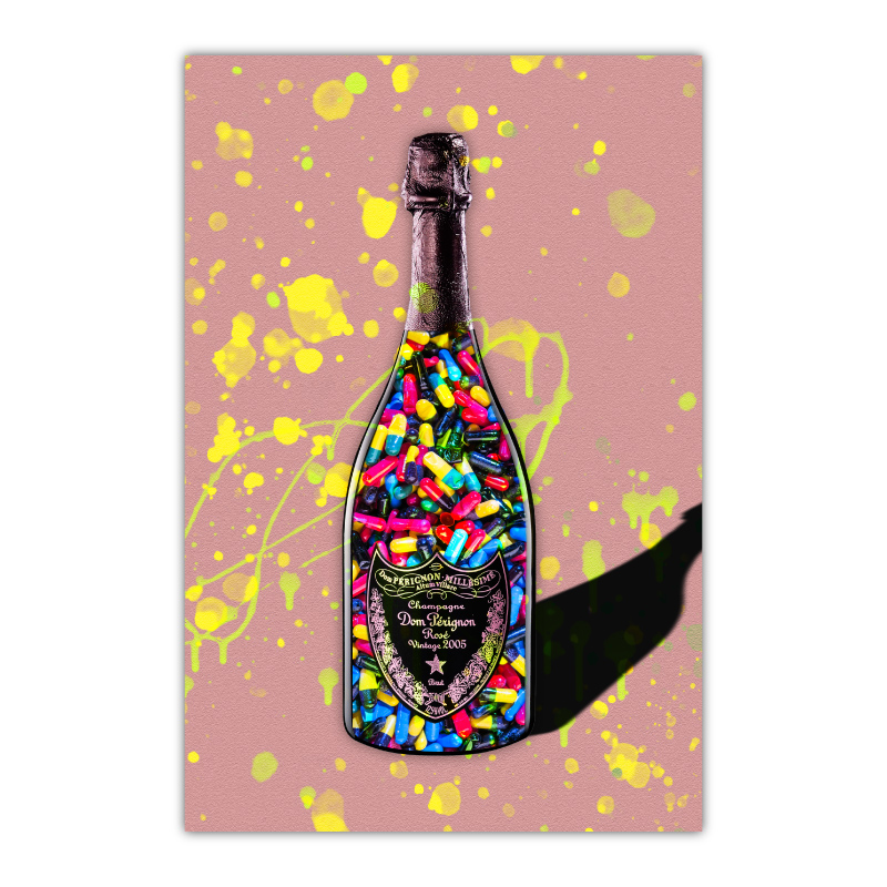 Pills Champagne Pink Wall Art Canvas Print