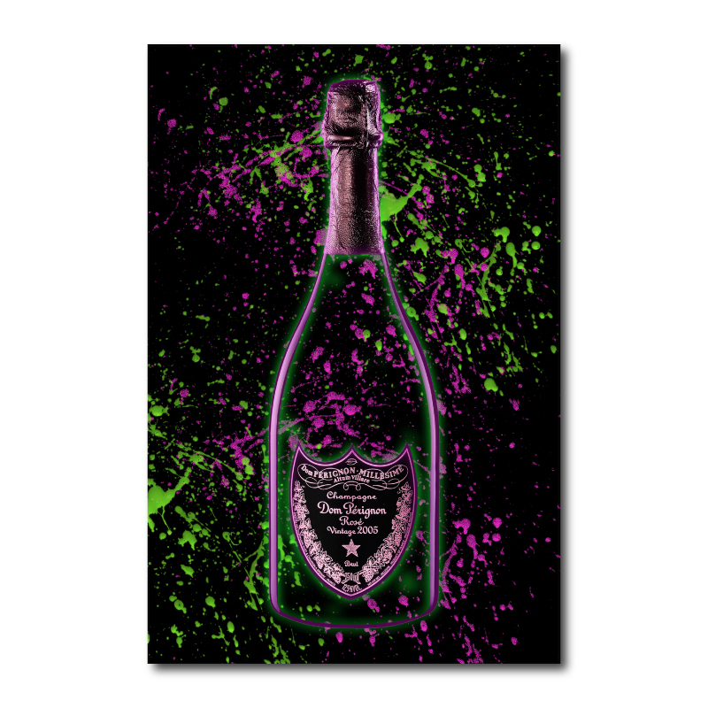 Champagne Splash Of Color Wall Art Canvas Print