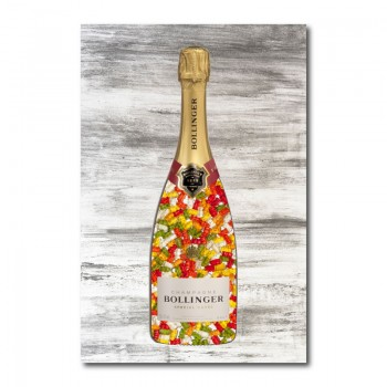 Gummy Bears Champagne Wall Art Canvas Print