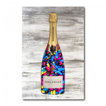 Pills Champagne Wall Art Canvas Print