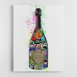DP Cartoon Champagne Canvas Wall Art Print
