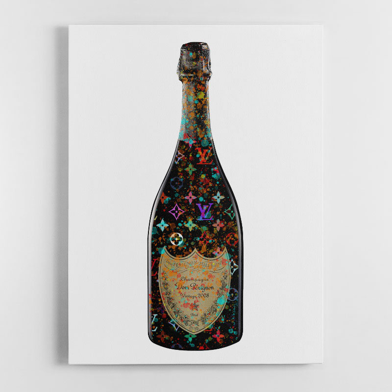 DP & LV Champagne Splash Canvas Wall Art Print